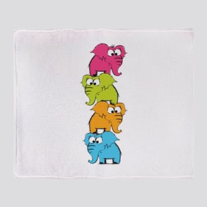 Cute elephants Throw Blanket